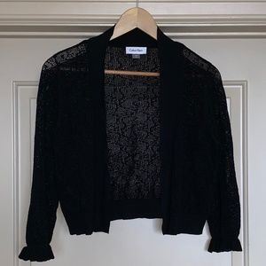 NWOT Calvin Klein Bolero Sweater 3/4 Sleeves